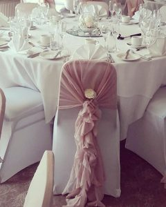 Chair Cover with Chiffon Ruffle Hood - £3.00 per chair