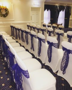 Chair Cover with Lace Sash - £1.50 per chair