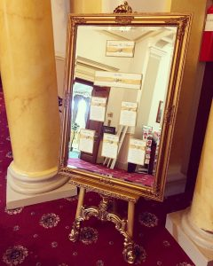 Gold Mirror & Easel - £50.00