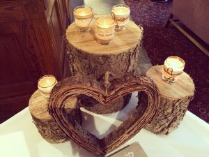 Rustic log slices (3 different sizes) - £15.00
