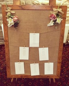 Rustic Table Plan Board & Easel - £50.00